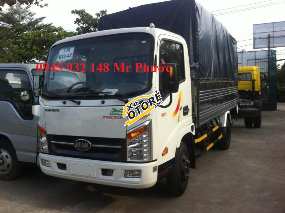 Xe tải Veam 3.5 tấn, xe tải Veam VT350 3T5 thùng mui bạt, màu trắng, xe Veam VT350 2016