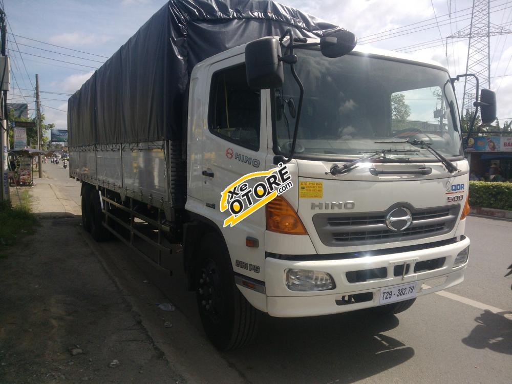 Đại lý Hino 3 chân FL8JTS 16 tấn/16t thùng bạt 9.2m đời 2015