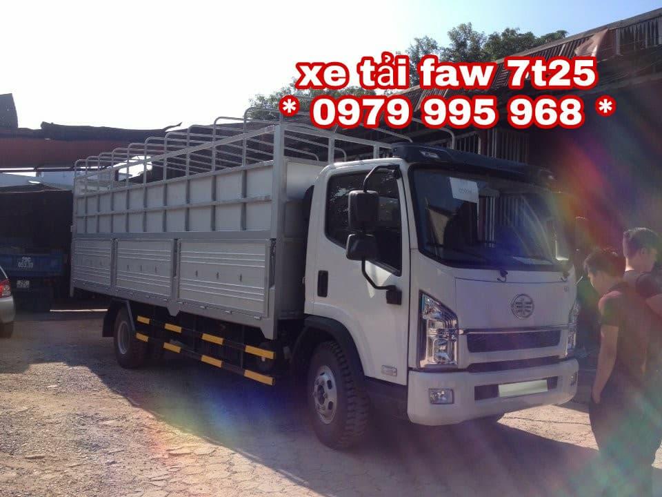 Xe tải Faw 7,25 tấn, động cơ yuchai 140PS, thùng 6m3, khuyến mại lớn