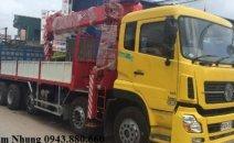 Đại lý chính hãng xe cẩu Dongfeng tải trọng 10 tấn Hoàng Huy, Trường Giang, Dongfeng C230 có cẩn cẩu