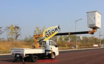Xe thang nâng người làm việc trên cao Dasan 13m, xe sửa chữa điện 13M