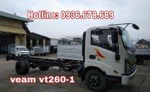 Bán xe tải Veam VT260-1 thùng dài 6m, máy Isuzu, 1.95 tấn