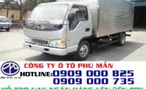Xe tải jac 2.4 tấn- Jac 2T4-Tải Jac 2.4T Isuzu- Thùng dài 3m7