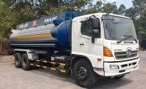 Bán xe bồn Hino 19 khối chở xăng 2017 ga cơ cần thanh lý