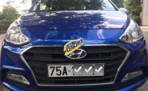 Cần bán xe Hyundai Grand i10 1.2 AT năm sản xuất 2018, màu xanh lam số tự động, giá 360tr